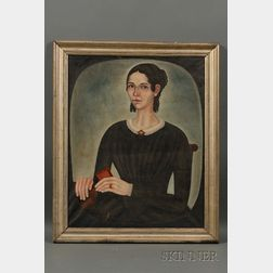 Thomas Skynner (American, fl 1840-1852) Pair of Portraits of William Kitteridge Cleveland and his Wife Elizabet...