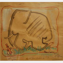 Ludwig Bemelmans (American, 1898-1962)      Elephant and Hare