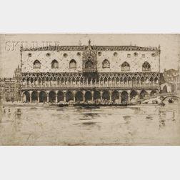 David Young Cameron (Scottish, 1865-1945)      Doges Palace