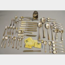 Group of Assorted Mostly Sterling Silver Flatware