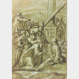 Manner of Girolamo Francesco Maria Mazzola, called Parmigianino (Italian, 1503-1540)  Adoration of the Magi