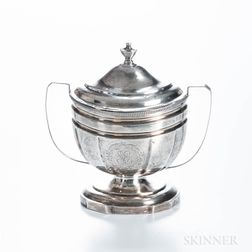 Covered Coin Silver Sugar Bowl
