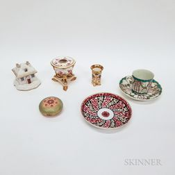 Six English Porcelain Items