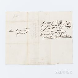 Jackson, Andrew (1767-1845) Autograph Document Signed, 14 March 1835.