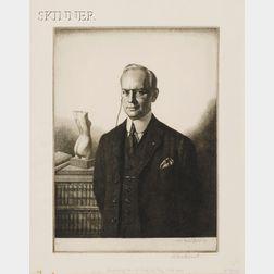 Gerald Leslie Brockhurst (British, 1890-1978)      Lot of Two Portraits:  Henry Bell