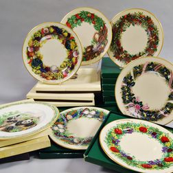 Seventeen Boehm and Lenox Plates
