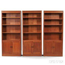 Three Stickley Bookcases