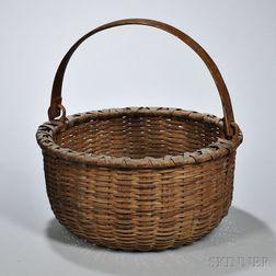 Woven Splint Swing Handle Basket