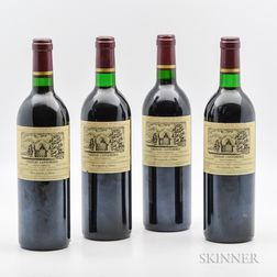 Chateau Cantemerle 1989, 4 bottles