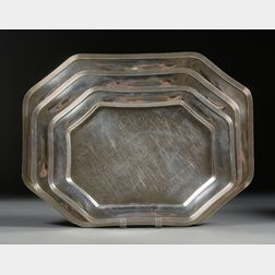 Nest of Three Towle Sterling Graduated Platters