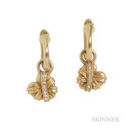 18kt Gold and Diamond Earrings, Kieselstein-Cord