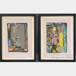 Albert Urban (German, 1909-1959)      Lot of Four Abstract Still Lifes