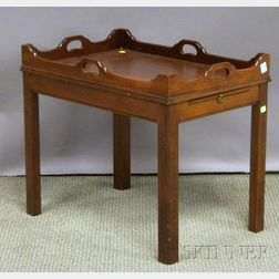 Small Chippendale-style Mahogany Butler's Tray Table.