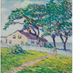 Lillian Burk Meeser (American, 1864-1942)      Cape Ann Cottage
