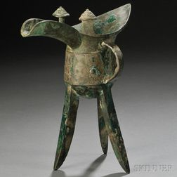 Archaic Bronze Wine Vessel, Jue