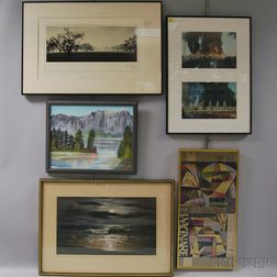 Large Group of Assorted Framed and Unframed Works