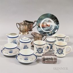 Coast Guard Nautical-themed Ceramics and Silver-plated Items