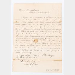 Lincoln, Abraham (1809-1865) Note Signed, 13 February 1864.