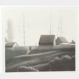 Robert Kipniss (American, b. 1931)    Far House