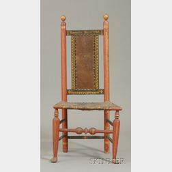 Paint-decorated and Gilded Turned Side Chair