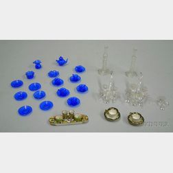 Lot of Dollhouse Glassware and China