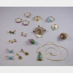 Group of Gold and Gemstone Jewelry