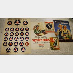 Five WWII Posters and Prints