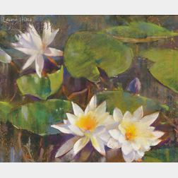 Laura Coombs Hills (American, 1859-1952)      Water Lilies