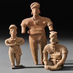 Three Colima Female Figures