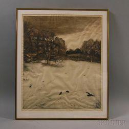 Robert Walker Macbeth (Scottish, 1848-1910)      Christmas Eve, After a Painting by John Everett Millais.