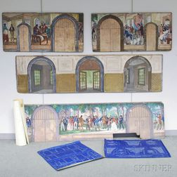 Gifford Beal (American, 1879-1956)  Four Mural Studies for the Entrance Hall of the John C. Green School of Engineering at Princeton Un