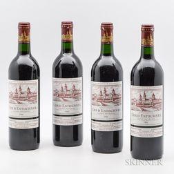 Chateau Cos dEstournel 1988, 4 bottles