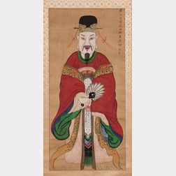 Religious Folk Painting Hanging Scroll