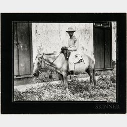 Walker Evans (American, 1903-1975)       Man on Donkey, Cuba