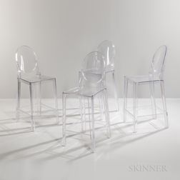 "Four Philippe Starck for Kartell ""Louis Ghost"" Bar Chairs"