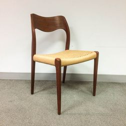 Neils Moller Teak Woven-seat Side Chair