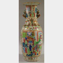 Chinese Export Rose Medallion Porcelain Floor Vase