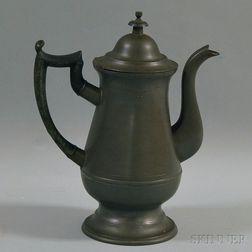 Roswell Gleason Pewter Coffeepot