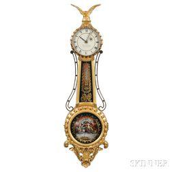Elmer O. Stennes White-painted Girandole Clock