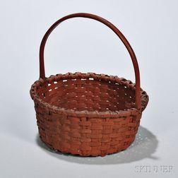 Bittersweet-painted Woven Splint Basket