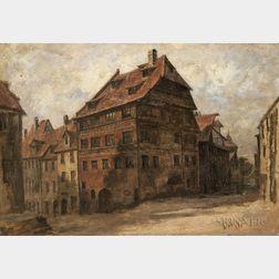 Continental School, 19th Century    Quiet Town Square
