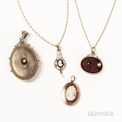 Four Antique Pendants