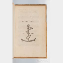 Lucretius (99-55 BC) [De Rerum Natura Rerum Libri Sex  ].