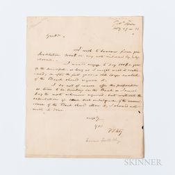 Key, Francis Scott (1779-1843) Autograph Letter Signed, Georgetown, 27 February 1832.