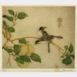Elyse Ashe Lord (British, d. 1971)  Vireos with Peaches