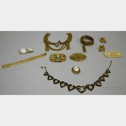 Group of Early 20th Century and Later Costume Jewelry