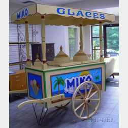 Painted Miko Ice Cream Cart with Canopy.