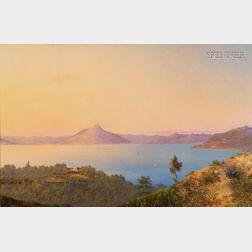 Abigail Osgood Williams (American, 1823-1913)      View of Vesuvius