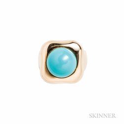 18kt Gold and Turquoise Ring