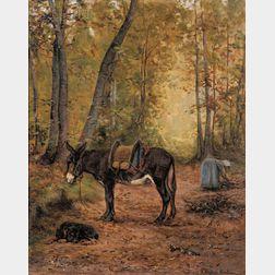 Juliette Peyrol Bonheur (French, 1830-1891)      Gathering Kindling Wood
